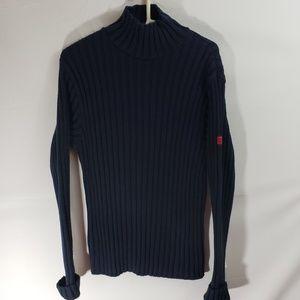 Abercrombie & Fitch Men's Navy Turtleneck Sweater